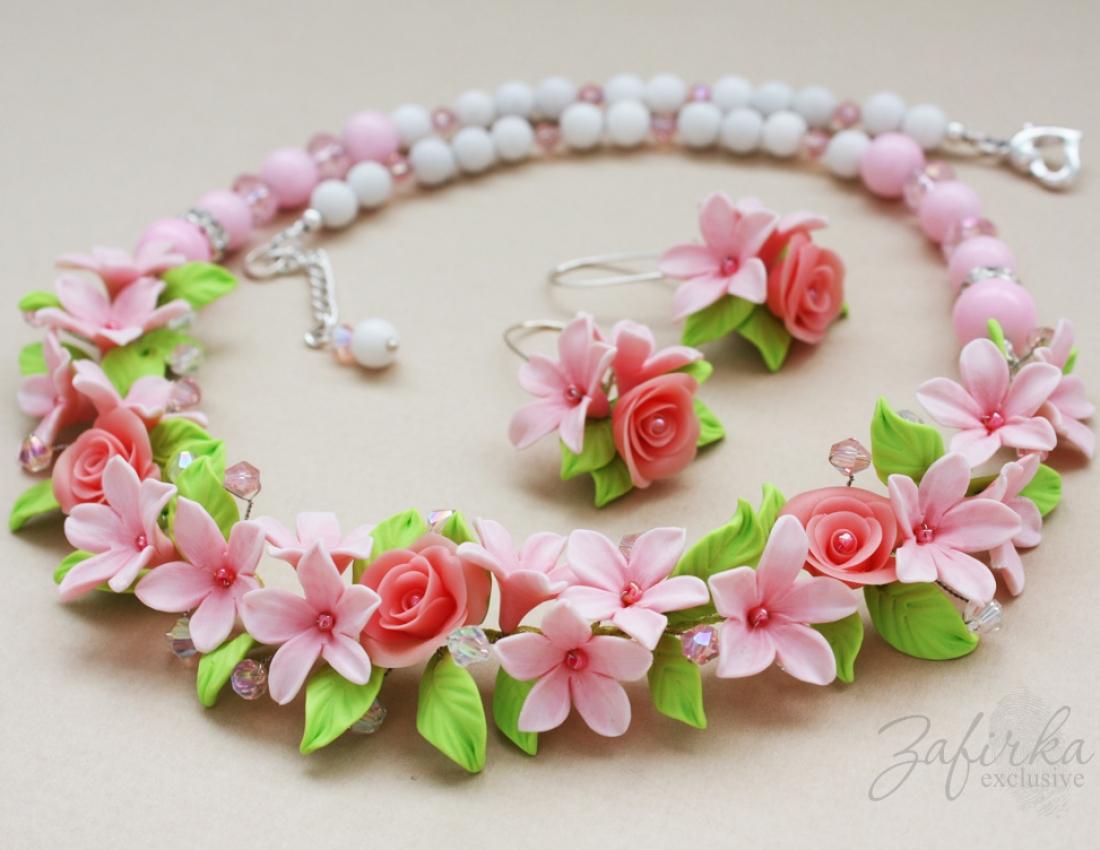 Цветы из полимерная глина своими руками